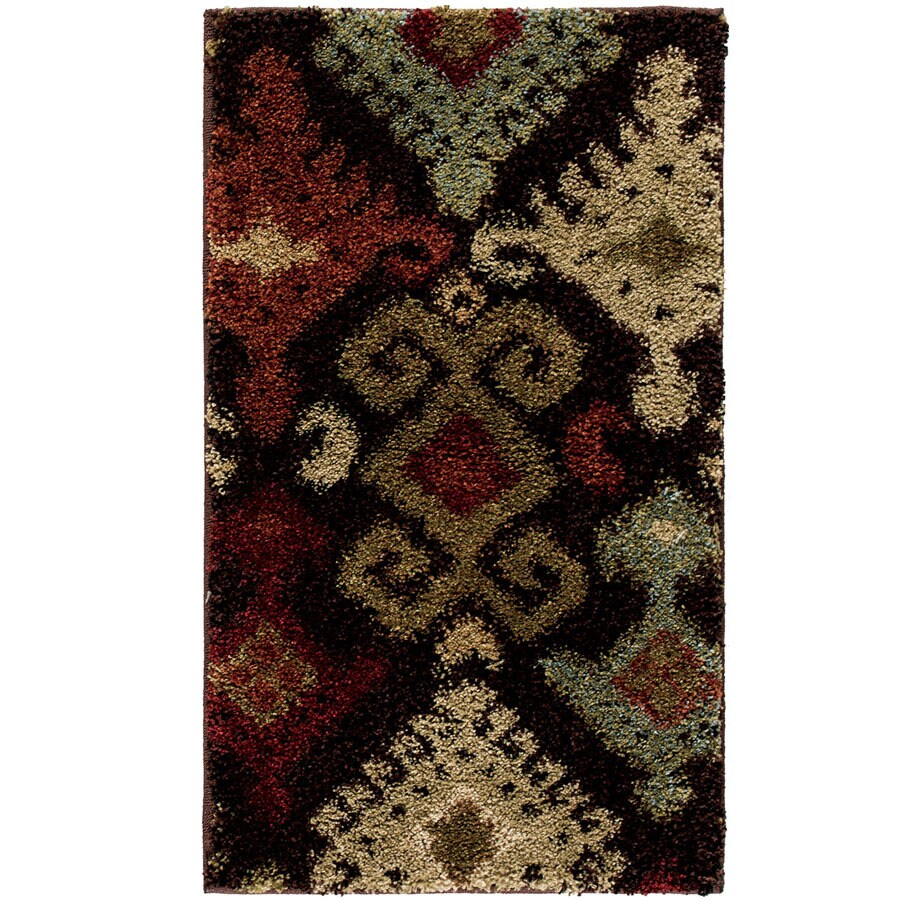 Style Selections Daleo Brown Rectangular Indoor Woven Throw Rug (Common: 2 x 3; Actual: 23-in W x 39-in L)