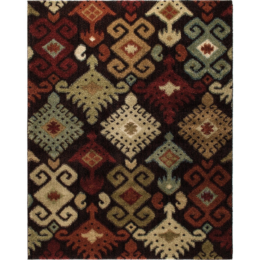 Style Selections Daleo Brown Rectangular Indoor Woven Area Rug (Common: 8 x 10; Actual: 94-in W x 120-in L)