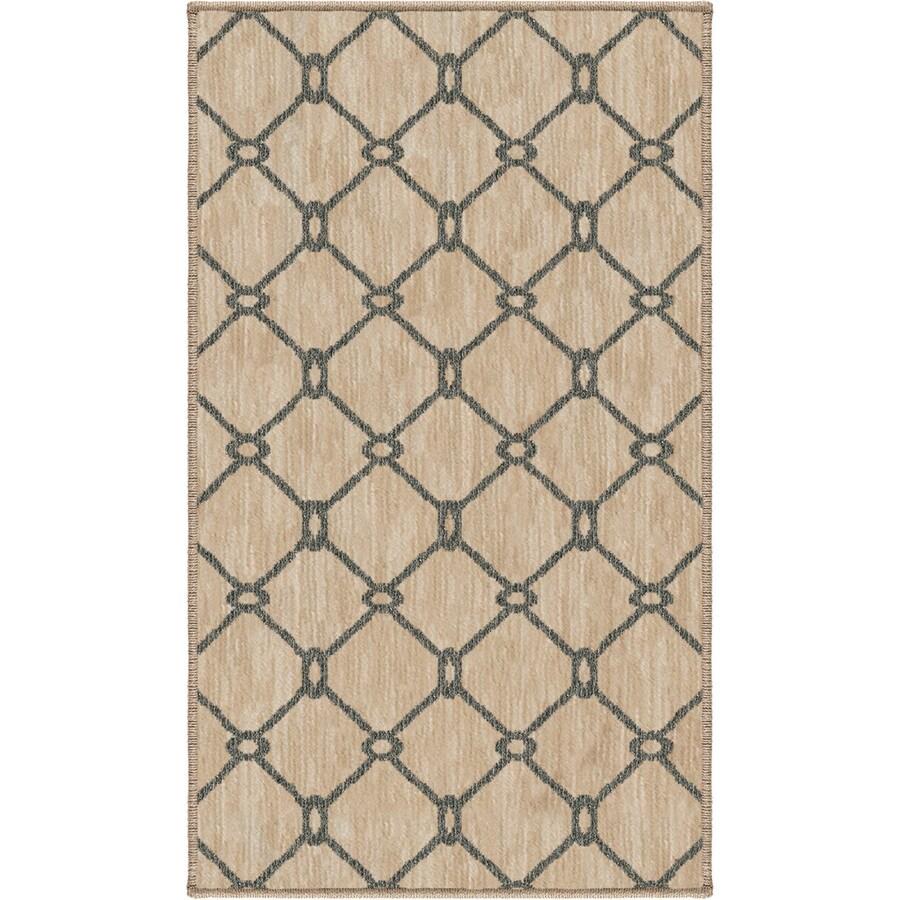 allen + roth Collingtree Cream Rectangular Indoor Woven Throw Rug (Common: 2 x 3; Actual: 23-in W x 39-in L)