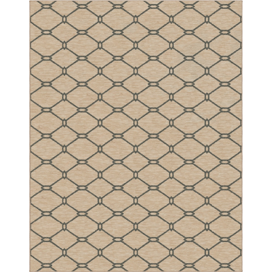 allen + roth Collingtree Cream Rectangular Indoor Woven Area Rug (Common: 8 x 10; Actual: 94-in W x 120-in L)