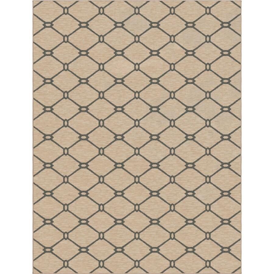 allen + roth Collingtree Cream Rectangular Indoor Woven Area Rug (Common: 10 x 13; Actual: 120-in W x 157-in L)