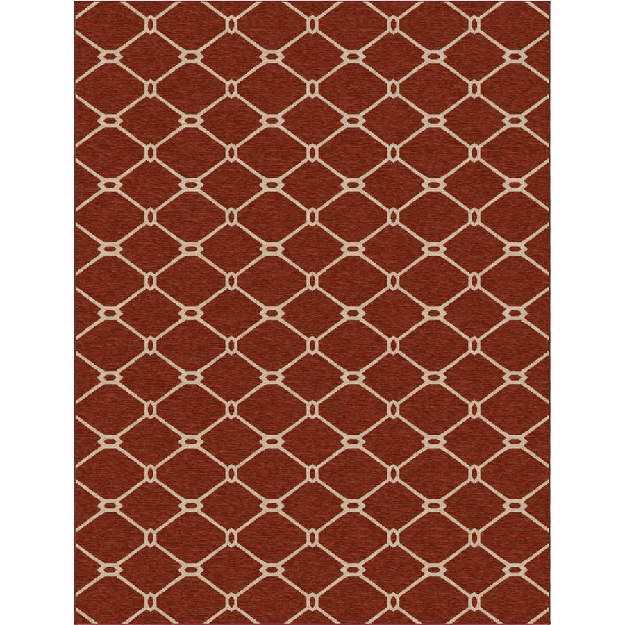 allen + roth Collingtree Red Rectangular Indoor Woven Area Rug (Common: 10 x 13; Actual: 120-in W x 157-in L)