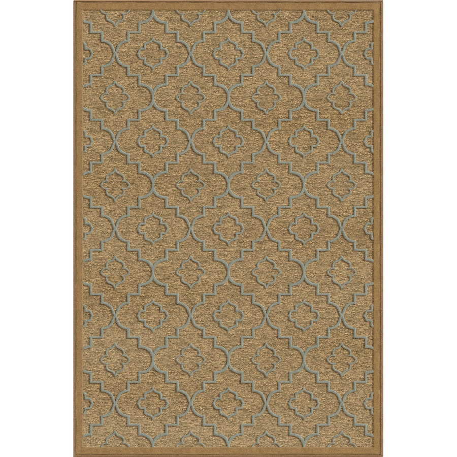 Orian Rugs Quarterfoil Brown Rectangular Indoor Woven Area Rug (Common: 5 x 8; Actual: 61-in W x 90-in L)