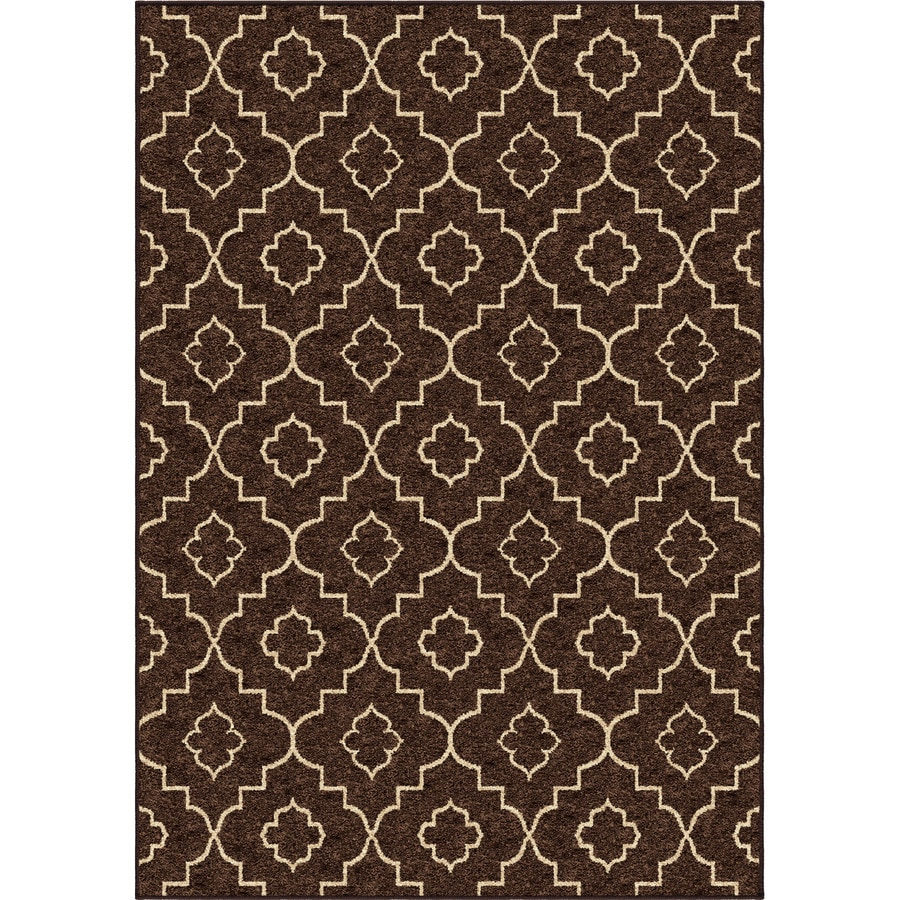 Style Selections Trennmar Tan Rectangular Indoor Woven Area Rug (Common: 5 x 8; Actual: 63-in W x 90-in L)