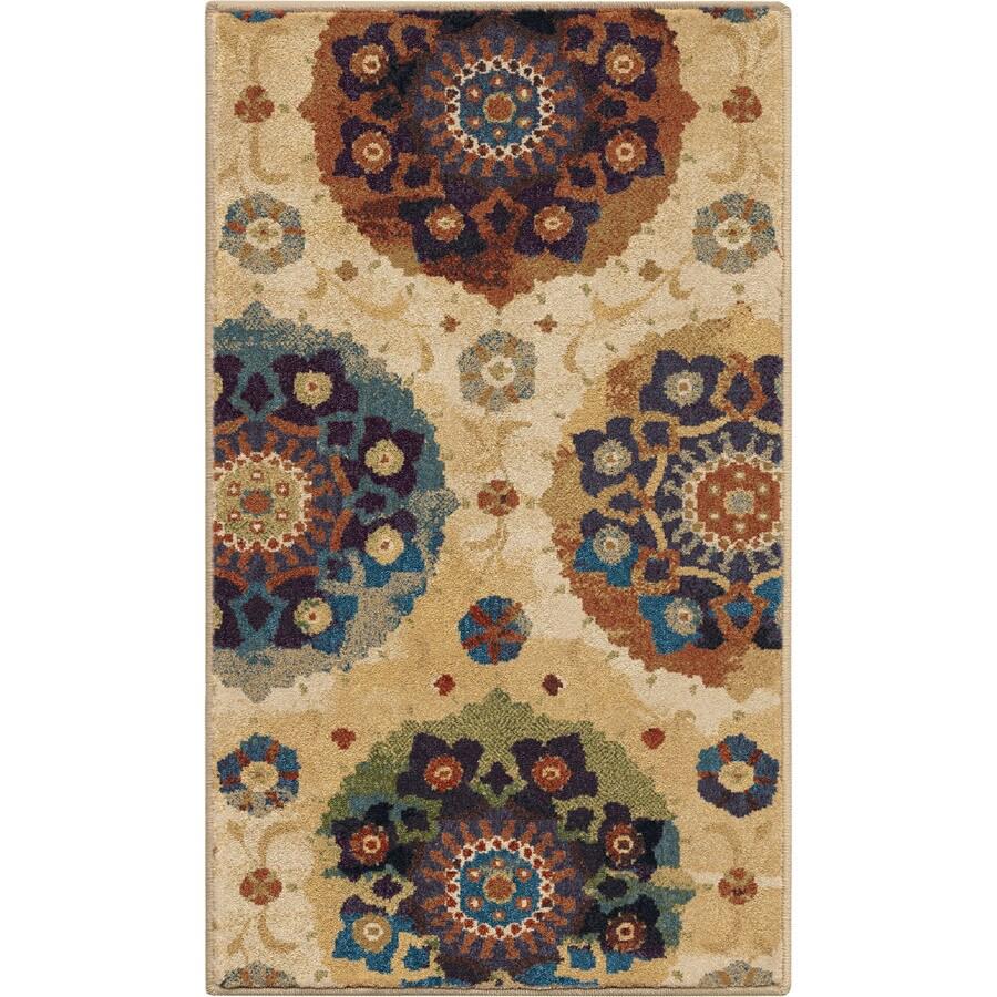 Orian Rugs Suzzanni Cream Multicolor Rectangular Indoor Machine-Made Throw Rug (Common: 2 x 3; Actual: 23-in W x 39-in L)