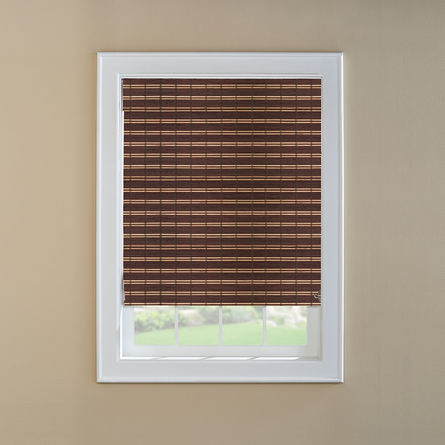 Custom Size Now by Levolor Tatami Light Filtering Bamboo Natural Roman Shade (Common 36-in; Actual: 35.5-in x 72-in)
