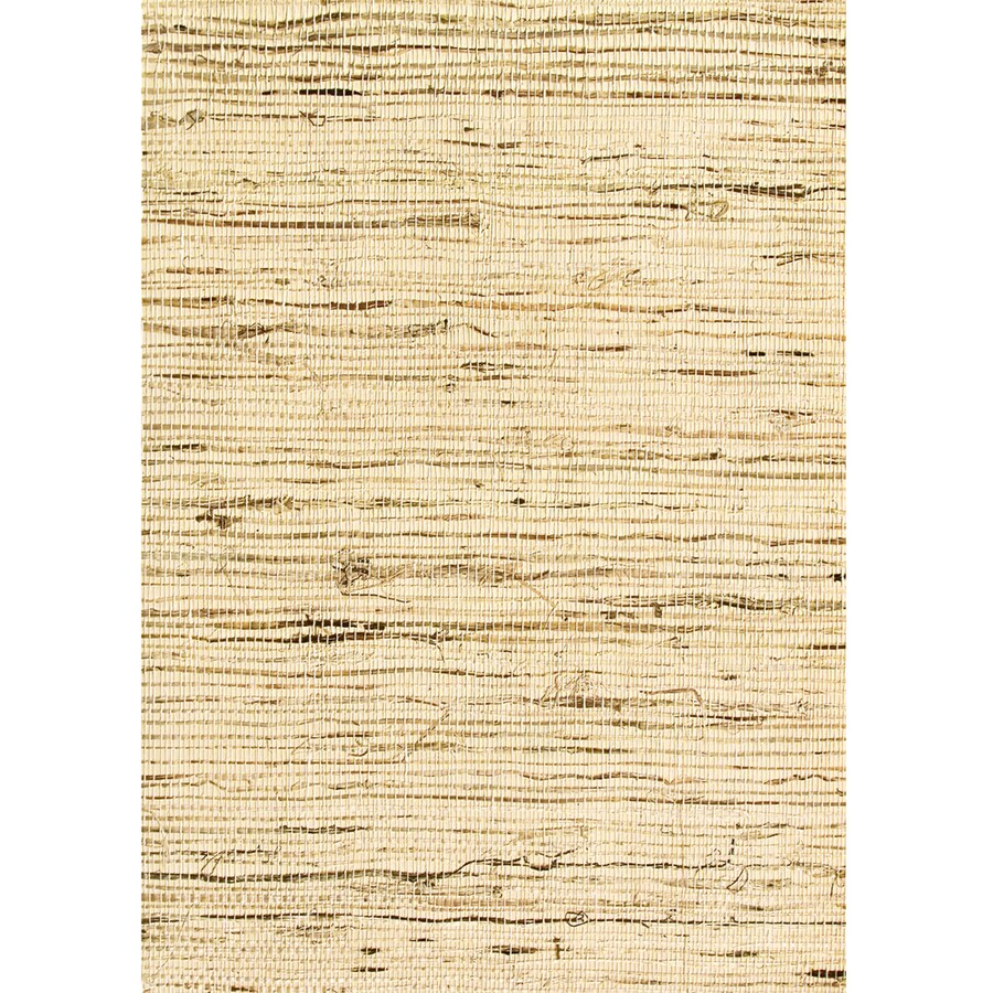 Waverly Brown Grasscloth Unpasted Textured Wallpaper