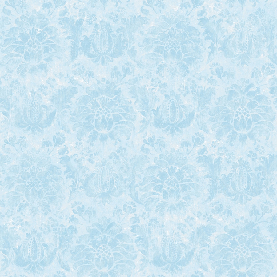 Shop disney blue peelable vinyl prepasted wallpaper at for Peelable wallpaper