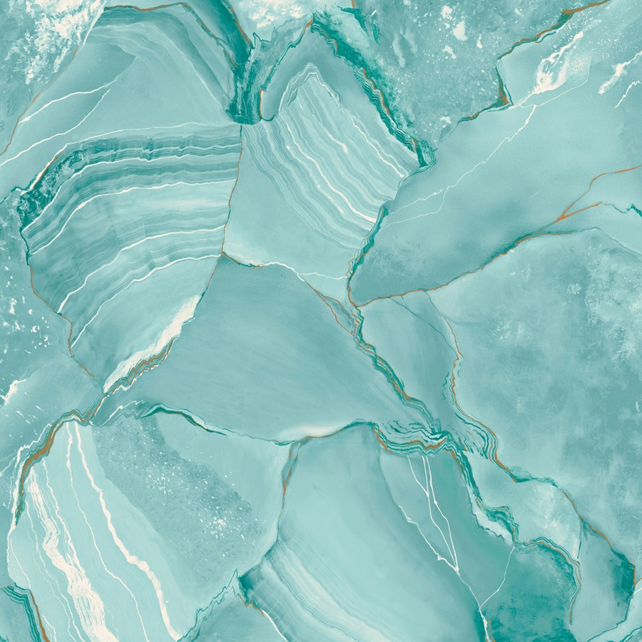 Shop allen roth turquoise peelable vinyl prepasted for Wallpaper lowe s home improvement
