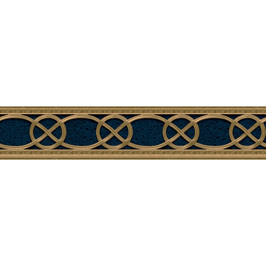 Shop allen roth 4 1 8 marine classical braid prepasted for Wallpaper lowe s home improvement