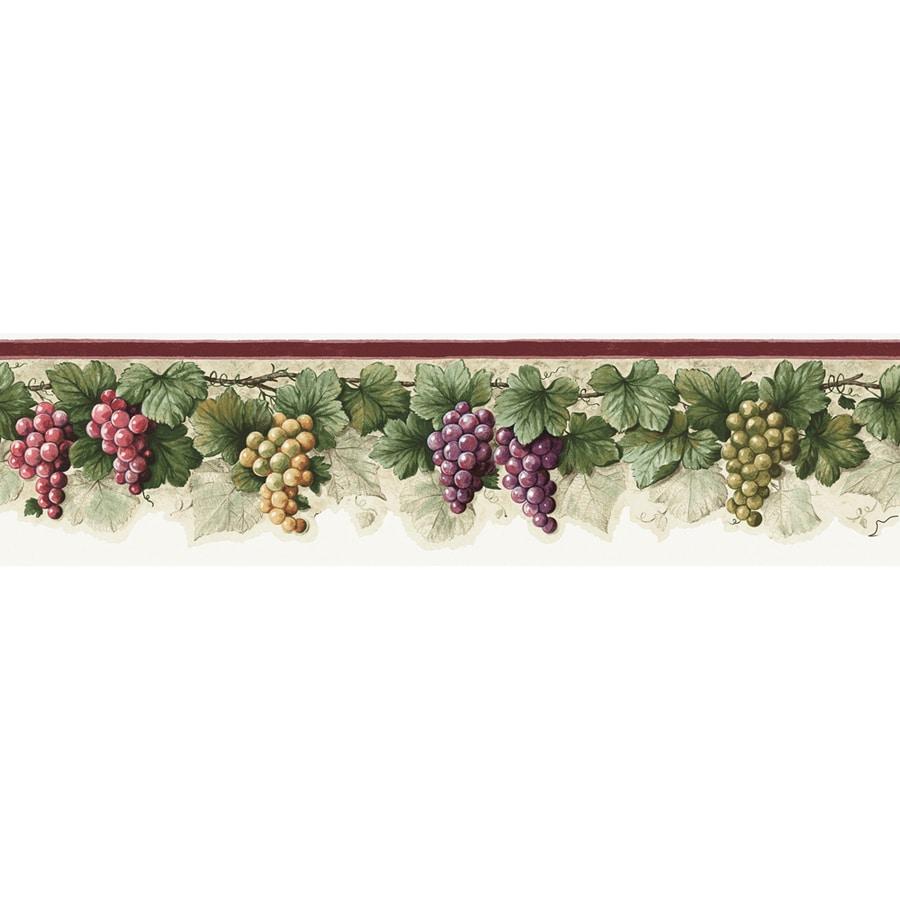 shop allen roth 6 in purple prepasted wallpaper border