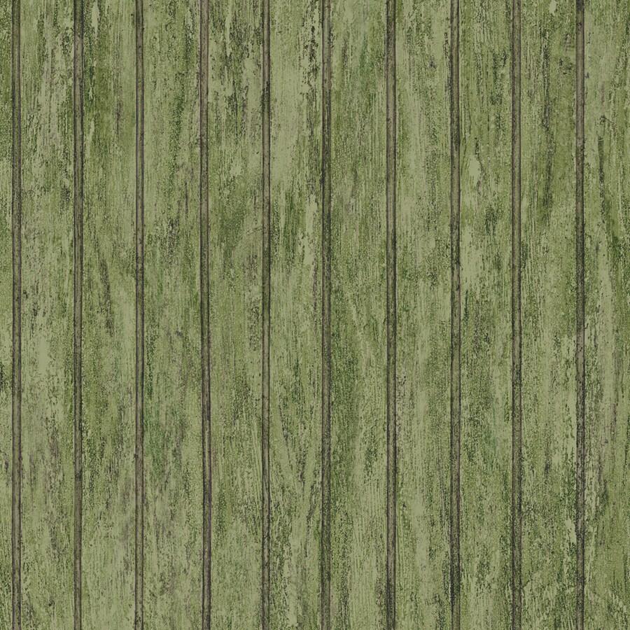 Shop allen roth green peelable vinyl prepasted wallpaper for Prepasted wallpaper