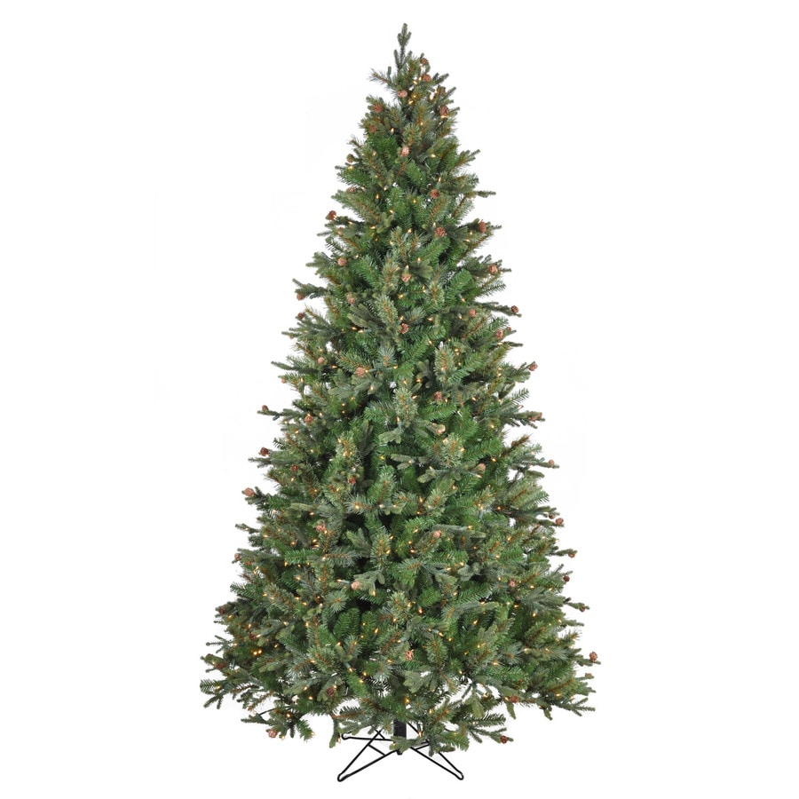Holiday Living 7.5-ft Pre-Lit Pine Artificial Christmas Tree with White Lights