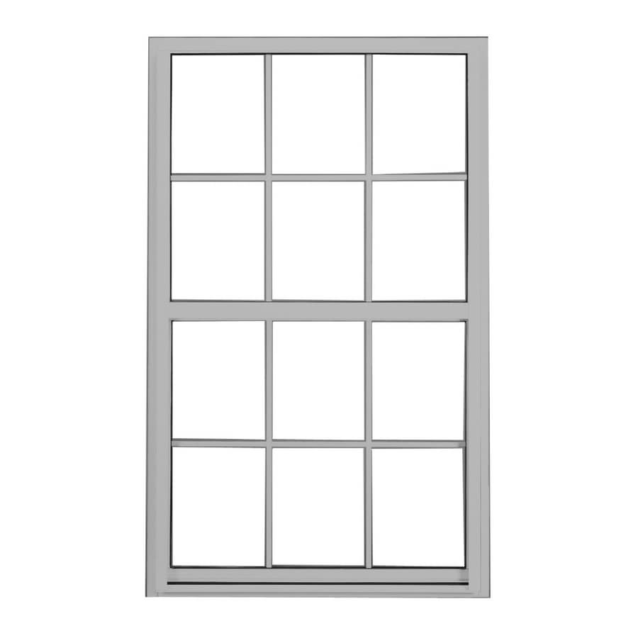 BetterBilt 3740 Series Aluminum Double Pane Single Strength Single Hung Window (Rough Opening: 37-in x 26-in; Actual: 37-in x 26-in)