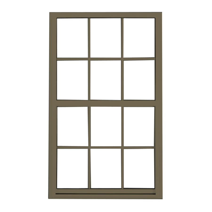 BetterBilt 3740 Series Aluminum Double Pane Single Strength Single Hung Window (Rough Opening: 24-in x 36-in; Actual: 23.25-in x 35.25-in)