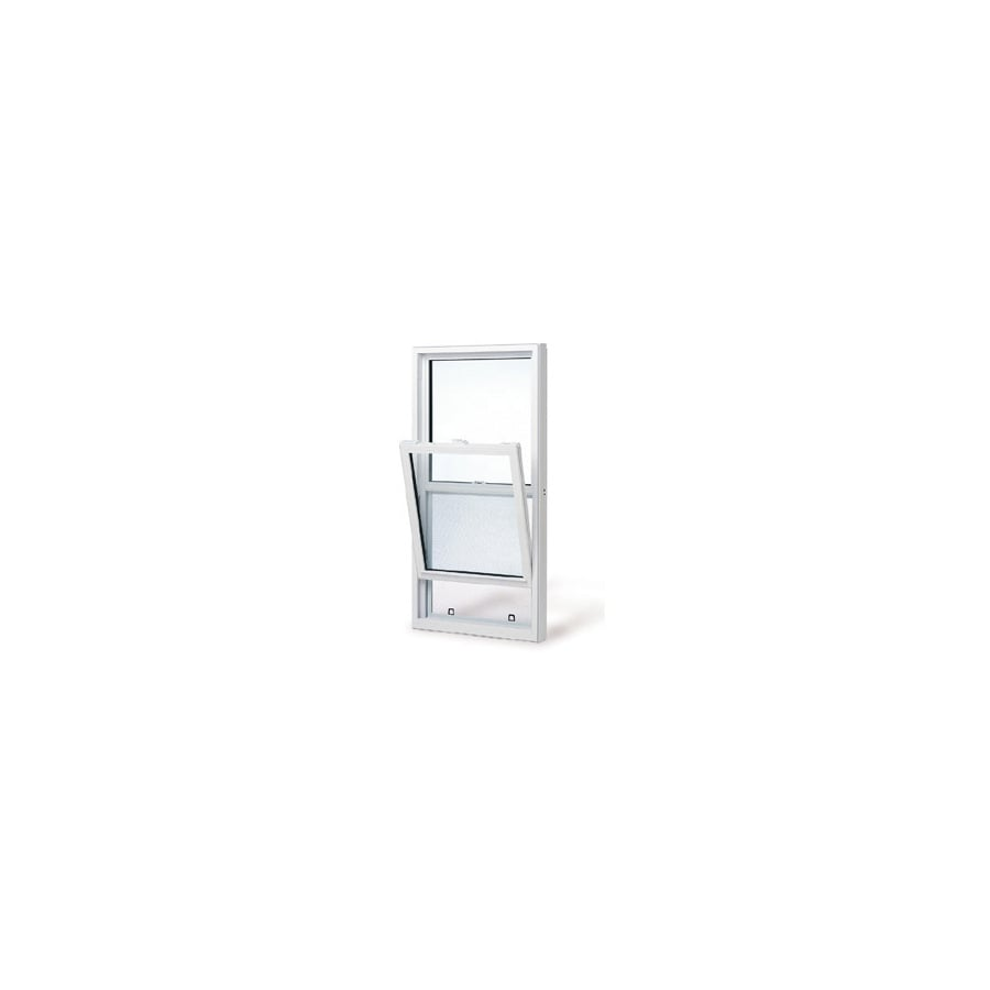 BetterBilt 3740 Series Aluminum Double Pane Single Strength Single Hung Window (Rough Opening: 26-in x 38-in; Actual: 26-in x 38-in)