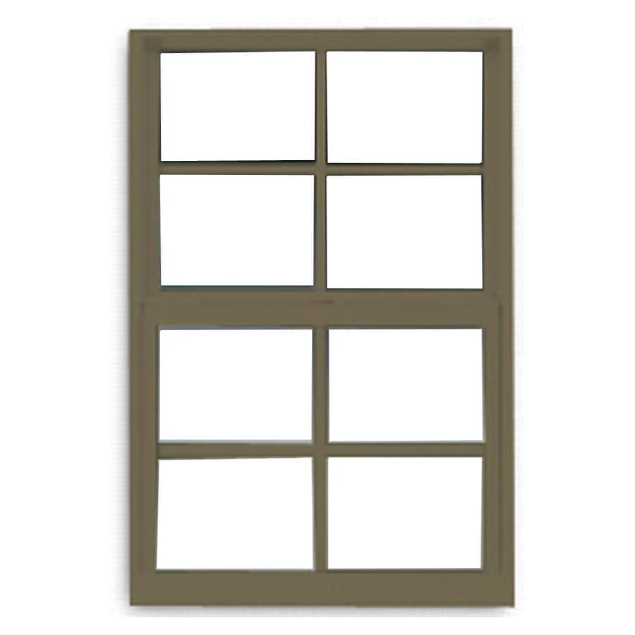 BetterBilt 3000TX Aluminum Double Pane Single Strength Single Hung Window (Rough Opening: 24-in x 36-in; Actual: 23.375-in x 35.5625-in)