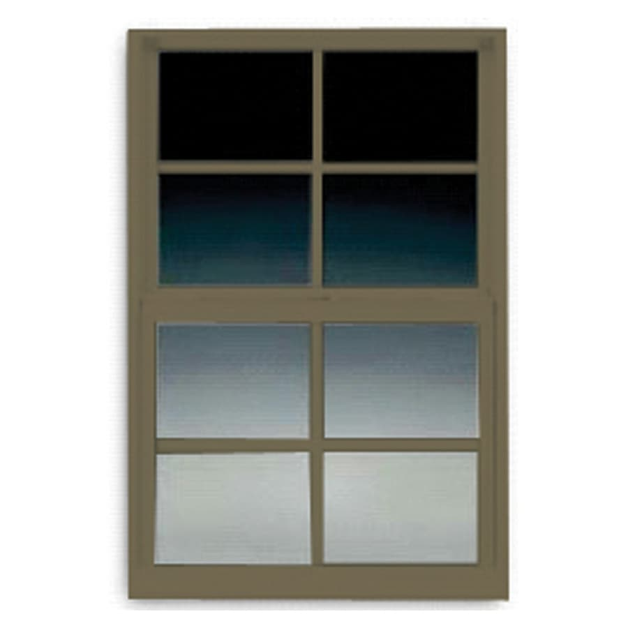 BetterBilt 3000TX Aluminum Double Pane Single Strength Egress Single Hung Window (Rough Opening: 36-in x 60-in; Actual: 35.375-in x 59.5625-in)