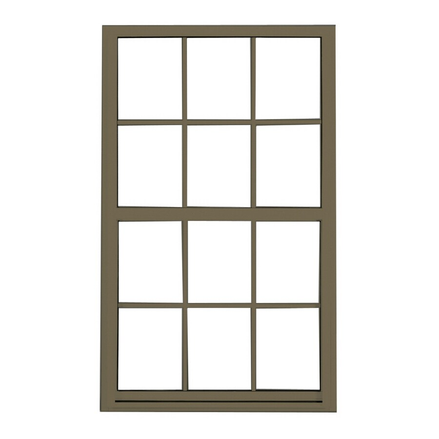 BetterBilt 3740 Series Aluminum Double Pane Single Strength Single Hung Window (Rough Opening: 36-in x 52-in; Actual: 35.25-in x 51.25-in)