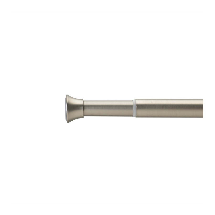 Umbra 36-in to 62-in Nickel Steel Single Curtain Rod