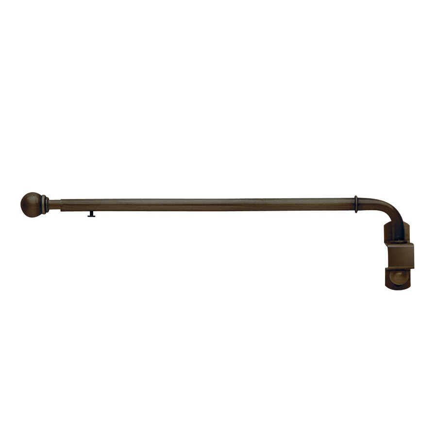 Style Selections 20-in to 36-in Darjeeling Bronze Metal Single Curtain Rod