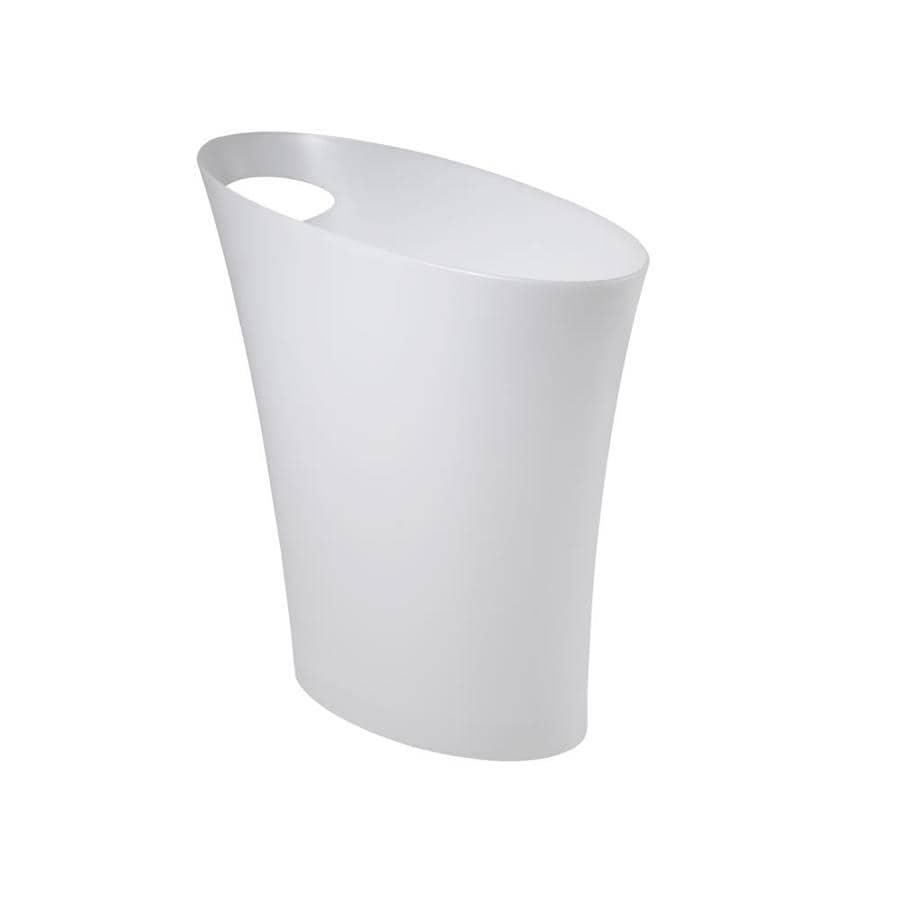 Umbra Skinny 7.5 Liters White Plastic Trash Can