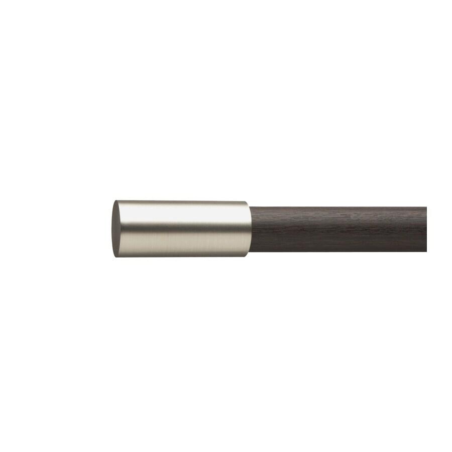 Umbra 3-Pack 72-in to 144-in Espresso/Nickel Steel Single Curtain Rod