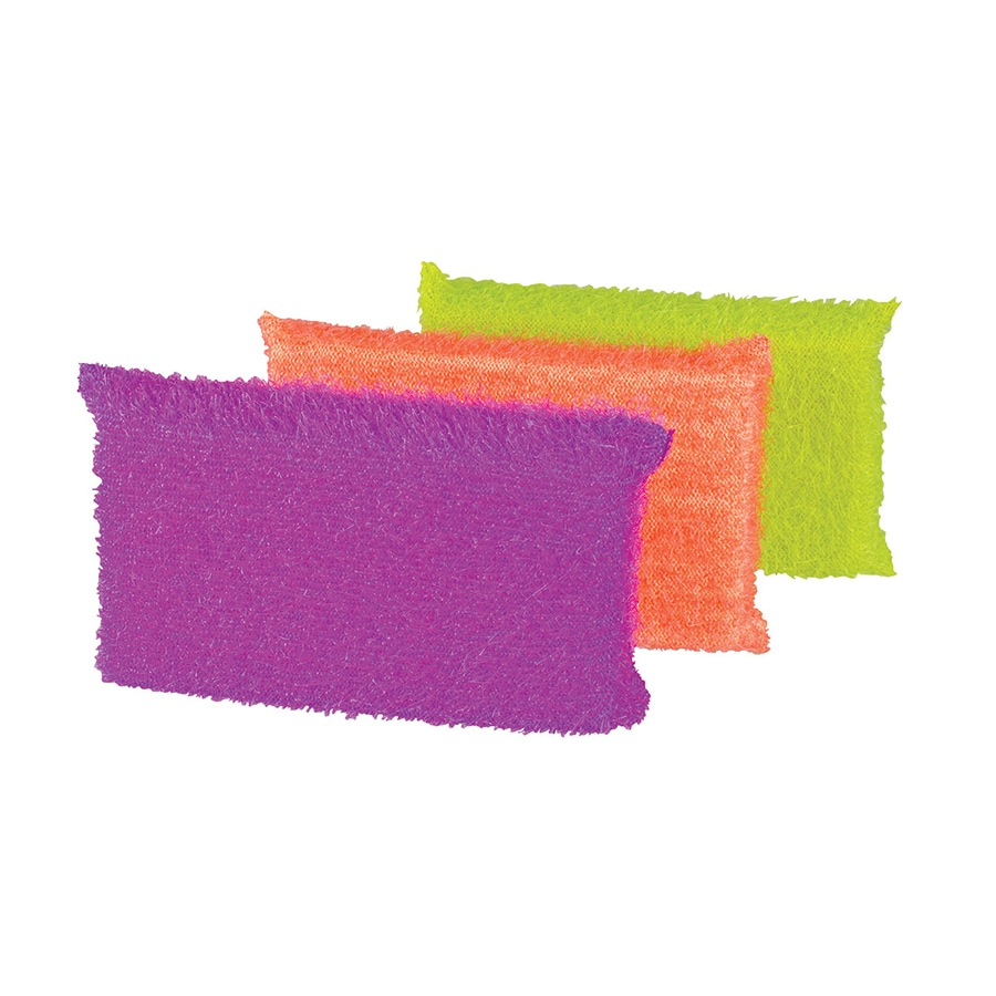 Casabella 3-Pack Poly Fiber Sponge with Scouring Pad