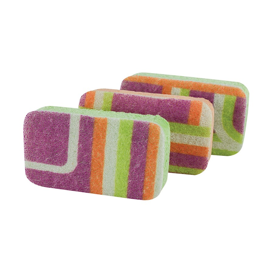Casabella 3-Pack Cellulose Sponge with Scouring Pad
