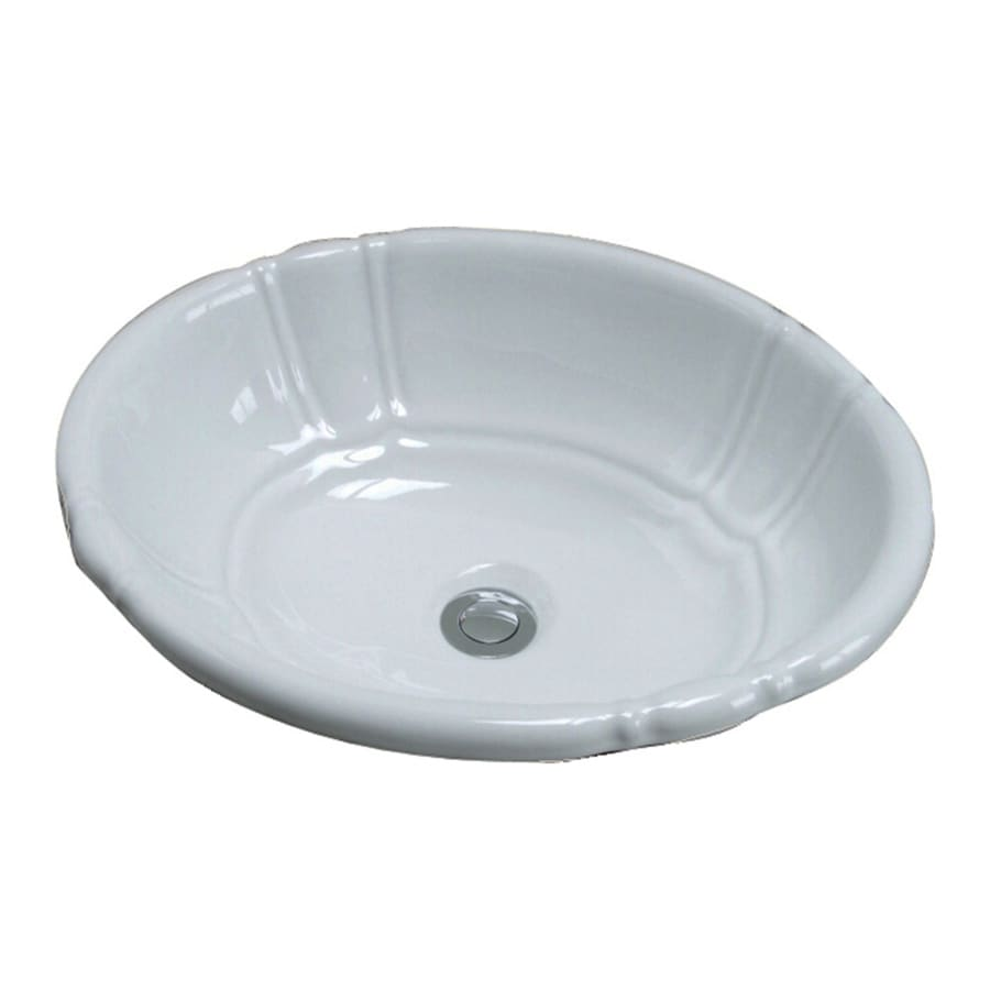 Oval Sink Bathroom : ... Lisbon White Drop-In Oval Bathroom Sink with Overflow at Lowes.com