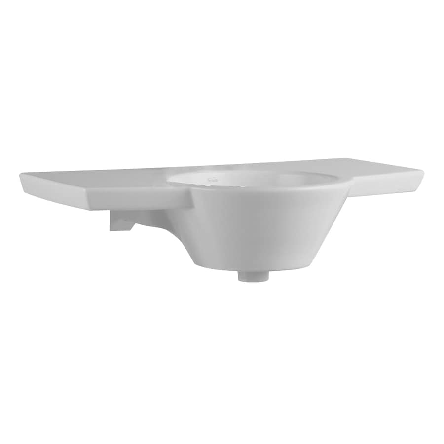 Barclay White Fire Clay Wall-Mount Rectangular Bathroom Sink