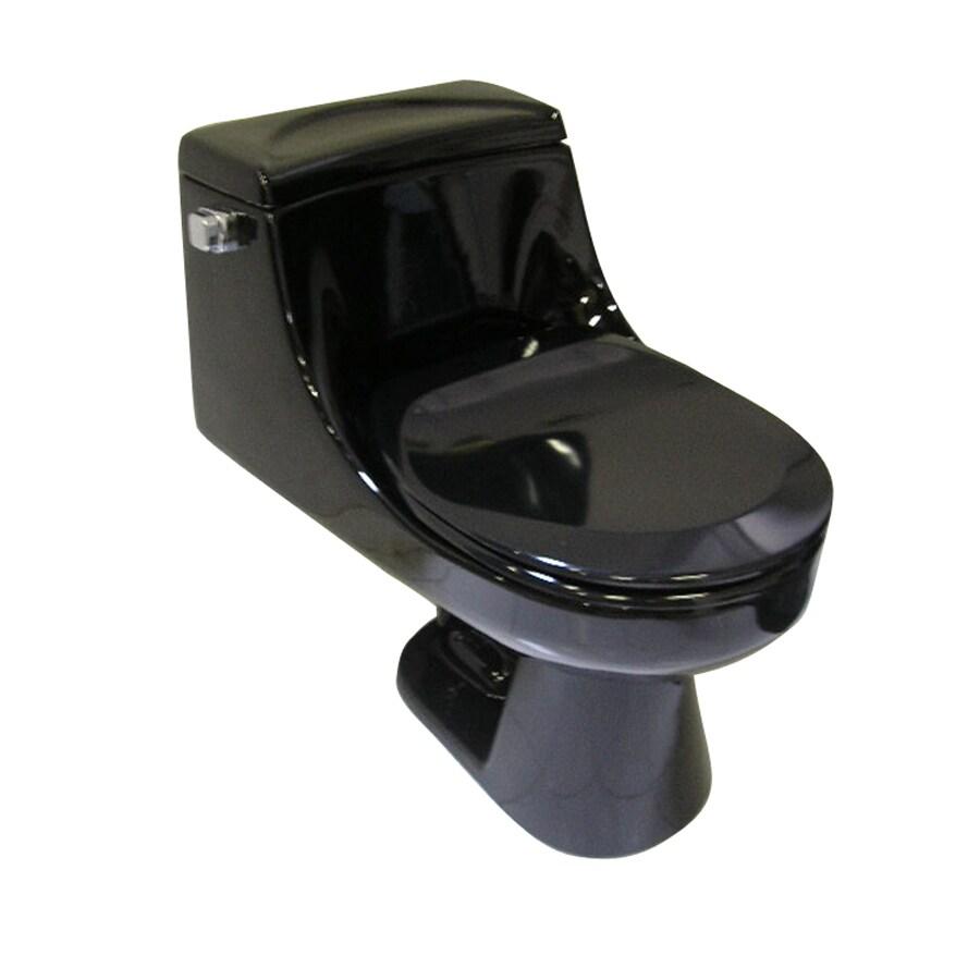 Barclay Vogue Black 1.6-GPF (6.06-LPF) 12-in Rough-In Round 1-Piece Standard Height Toilet