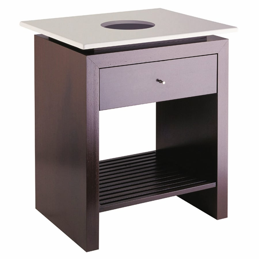 Barclay Fontana Wenge Contemporary Bathroom Vanity (Common: 24-in x 18-in; Actual: 23.62-in x 17.75-in)