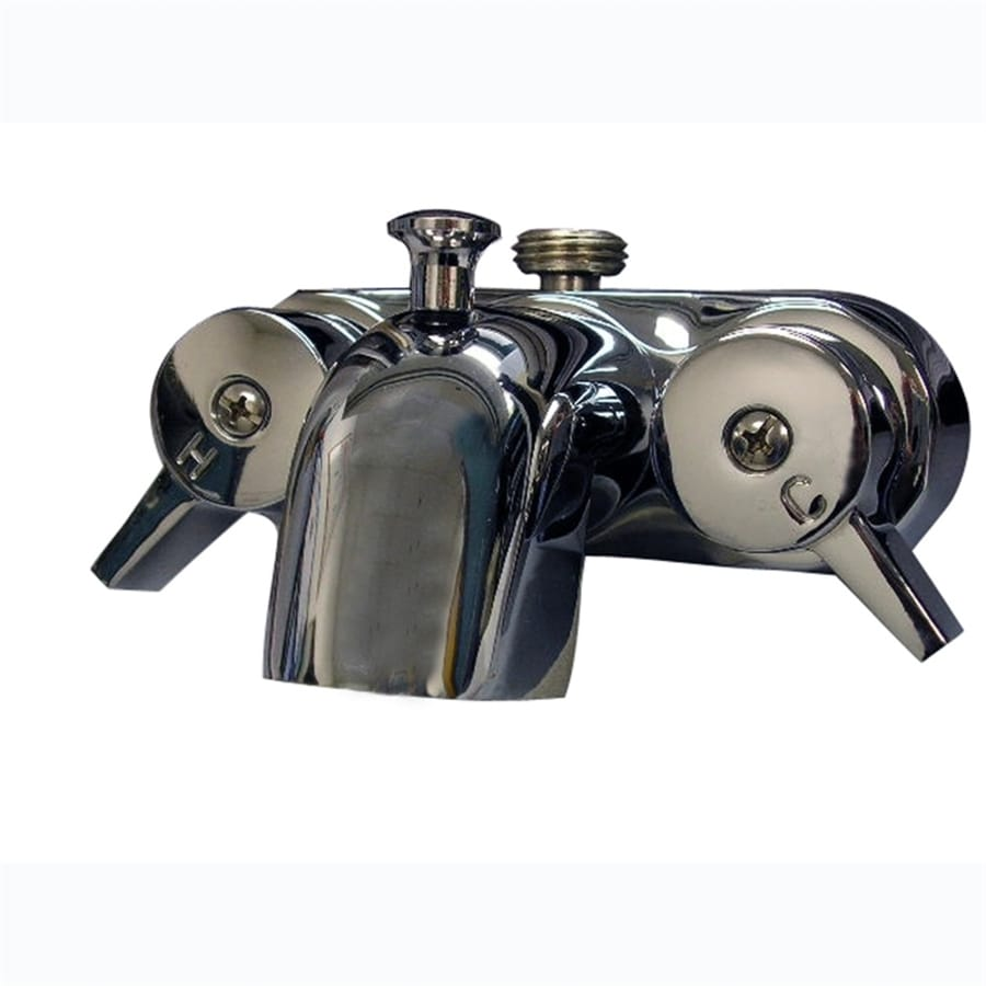 Shop Barclay Brilliant Polished Chrome 2 Handle Bathtub And Shower Faucet With Single Function