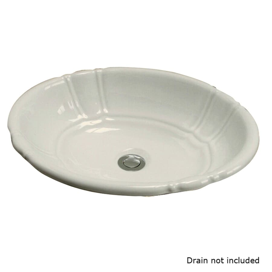 Barclay Sienna Bisque Drop-In Oval Bathroom Sink with Overflow