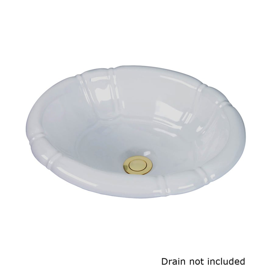 Barclay Sienna White Drop-In Oval Bathroom Sink with Overflow