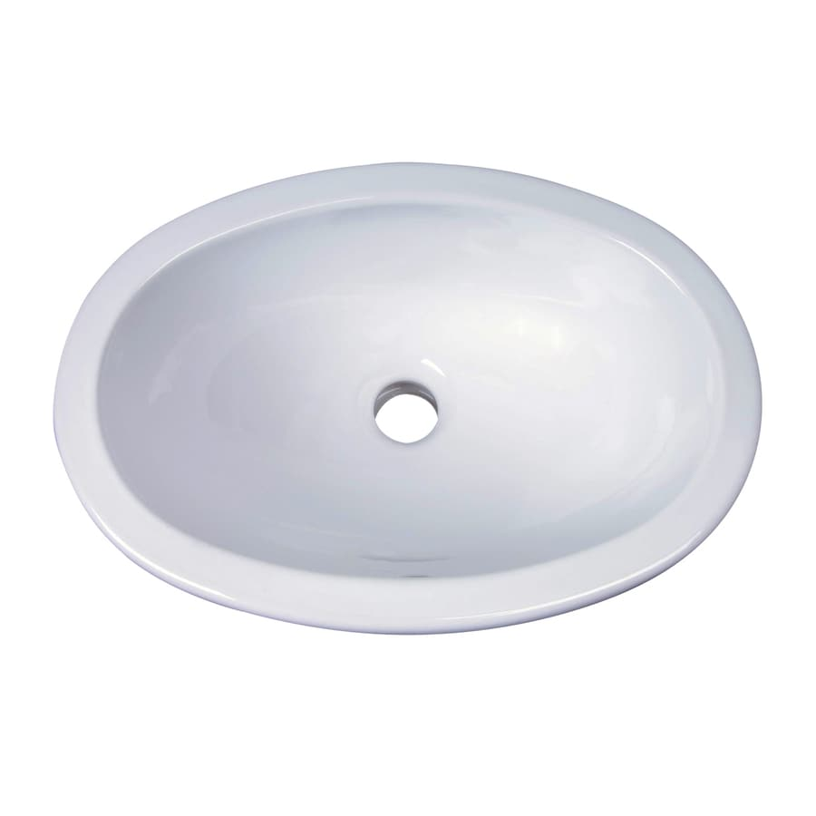 Shop Barclay Lily White Undermount Oval Bathroom Sink At