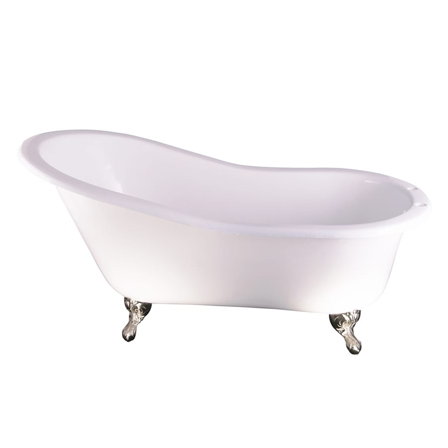 Shop Barclay Cast Iron Oval Clawfoot Bathtub With Back Center Drain Common