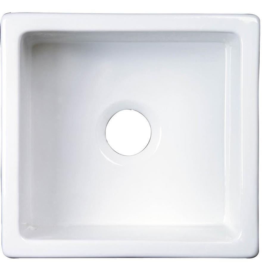 Barclay 17.75-in x 18-in White Single-Basin Fireclay Undermount Residential Kitchen Sink