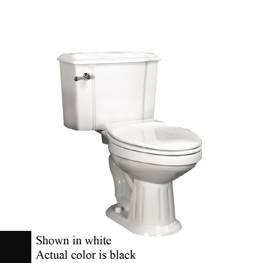 Barclay Vicki Black 1.6-GPF (6.06-LPF) 12-in Rough-In Round 2-Piece Standard Height Toilet