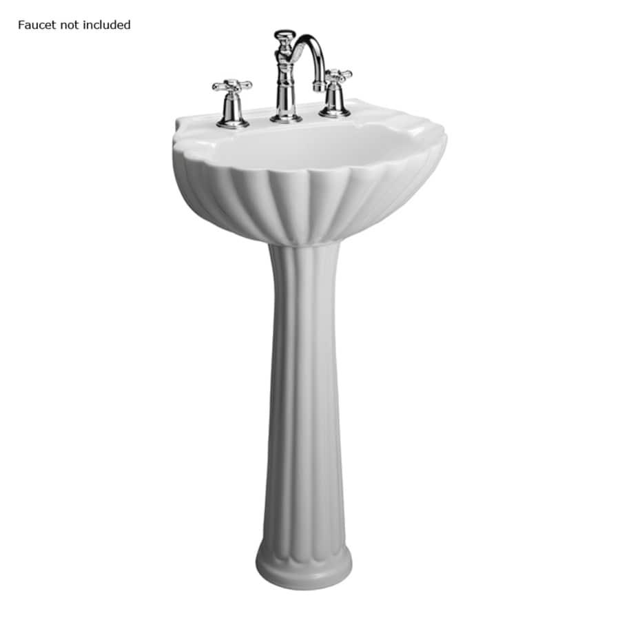 Barclay Bali 35.37-in H White Vitreous China Pedestal Sink