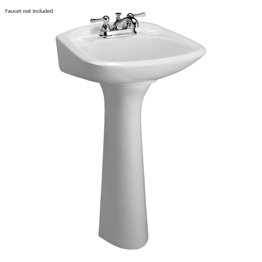 Barclay Chelsea 32.5-in H White Vitreous China Complete Pedestal Sink