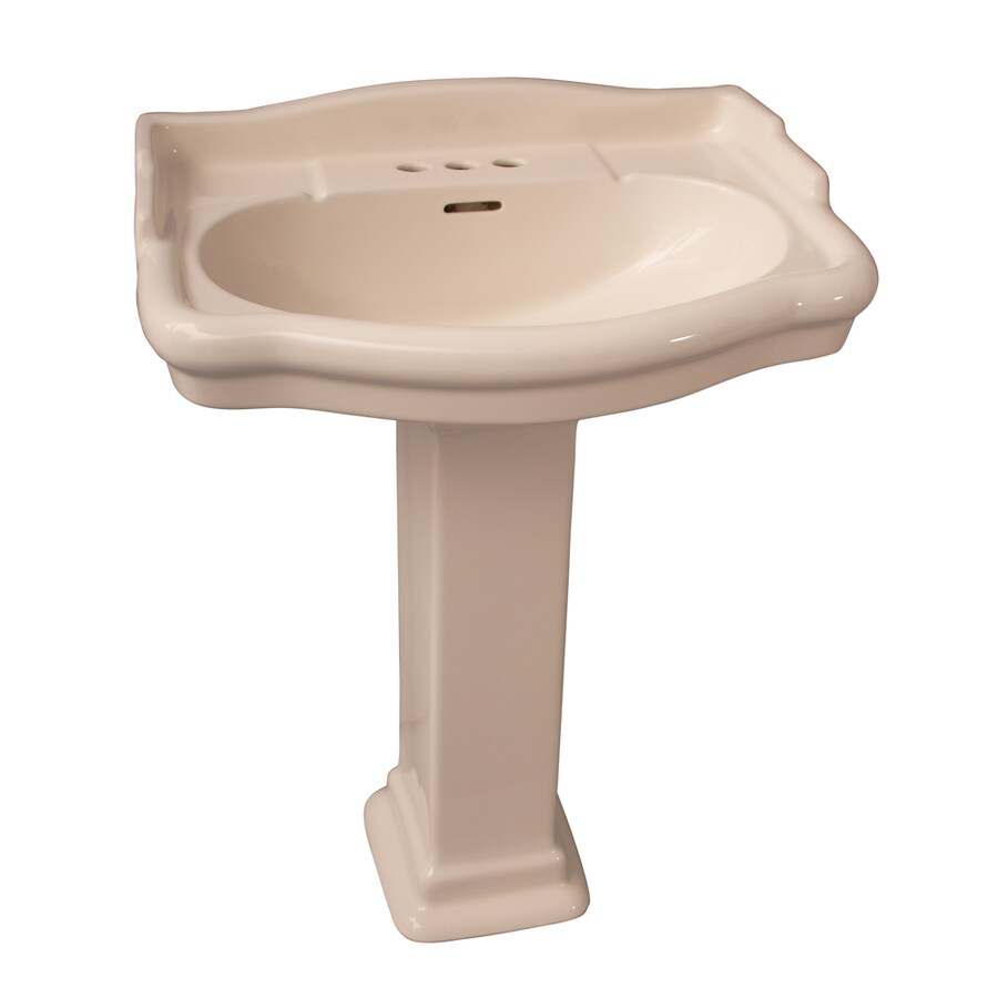 Barclay Stanford 33.75-in H Bisque Vitreous China Pedestal Sink