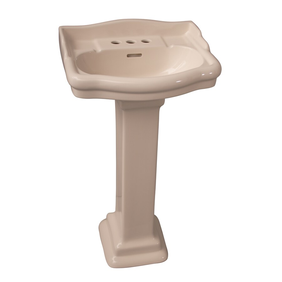 Barclay Stanford 34.25-in H Bisque Vitreous China Pedestal Sink