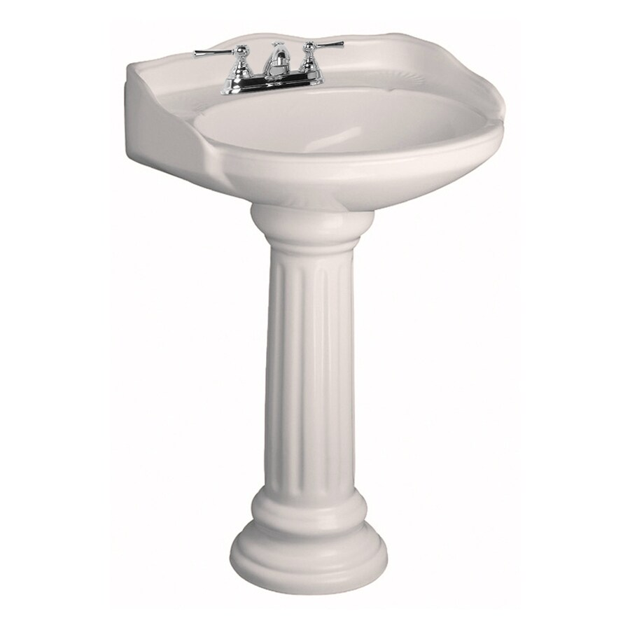 Barclay Vicky 34.12-in H Bisque Vitreous China Pedestal Sink