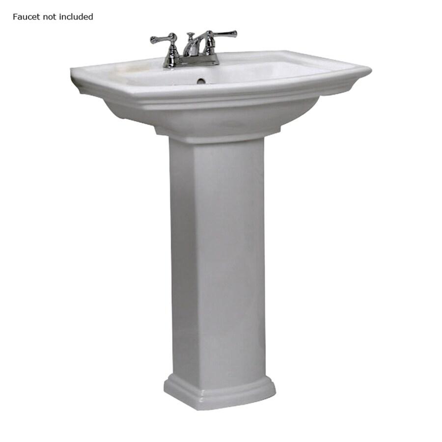 Barclay Washington 33.5-in H White Vitreous China Pedestal Sink
