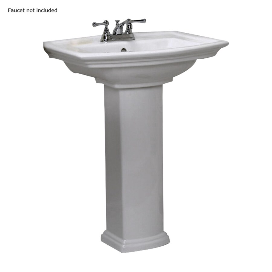 Barclay Washington 33.5-in H White Vitreous China Pedestal Sink