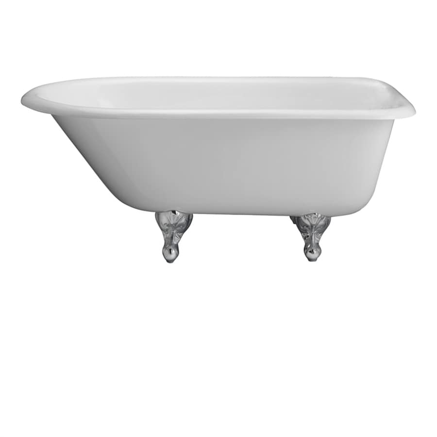 Barclay Cast Iron Oval Clawfoot Bathtub with Back Center Drain (Common: 30-in x 60-in; Actual: 23.25-in x 30.5-in x 60.75-in)