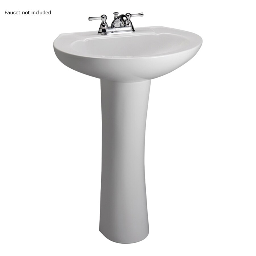 Barclay Hampshire 33-in H White Vitreous China Pedestal Sink