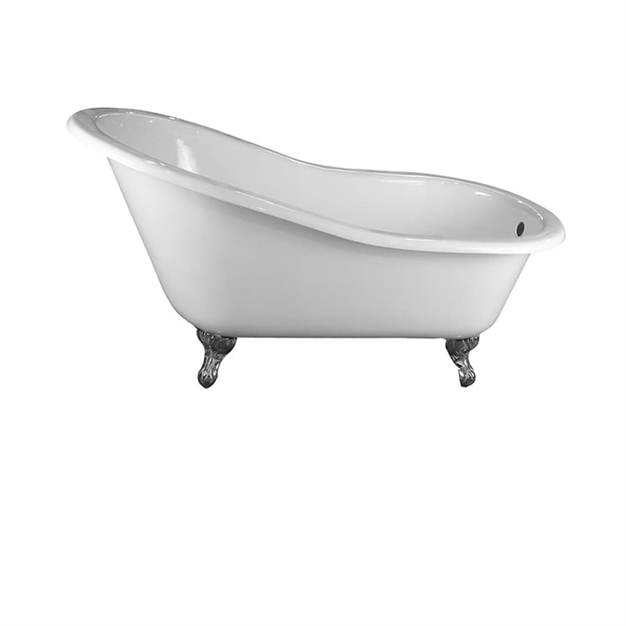 Barclay Cast Iron Oval Clawfoot Bathtub with Back Center Drain (Common: 30-in x 60-in; Actual: 31-in x 30.25-in x 61.25-in)